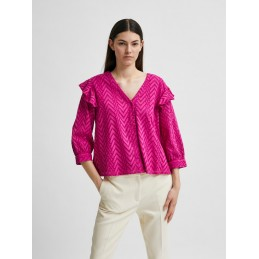 Chemise Femme Selected JOSA 3/4 FRILL SELECTED 10163