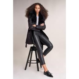 Pantalon Similicuir Skinny 7/8ème Femme Le Temps Des Cerises 123883 SALSA JEANS 1111