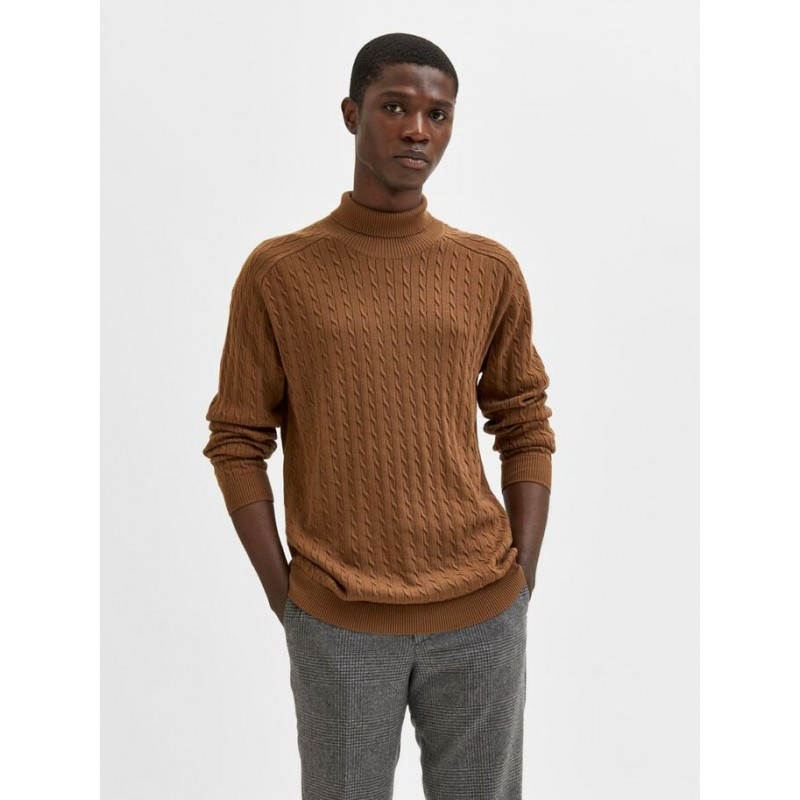 Pull Col Roulé Homme Selected HAIKO KNIT CABLE