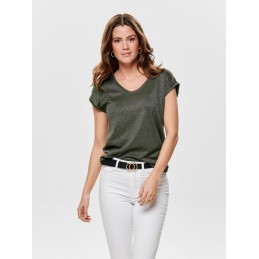 T-Shirt à Paillettes Femme Only SILVERY ONLY 2716