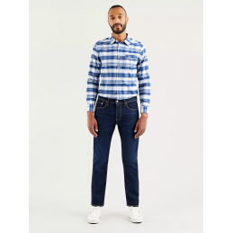 Jeans Bleu Foncé Homme...