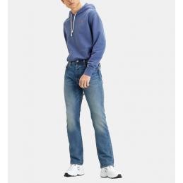 Jeans Droit Bleu Délavé...
