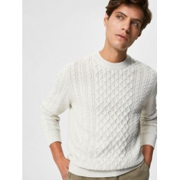 Pull Torsadé Homme Selected BENNO CABLE CREW SELECTED 607