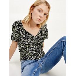 Blouse Imprimée Fleurie Femme Tommy Jeans TJW FLORAL PRINT TOMMY JEANS 9077