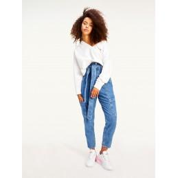 Sweatshirt Femme Tommy Jeans TJW SOFT V NECK TOMMY JEANS 9091